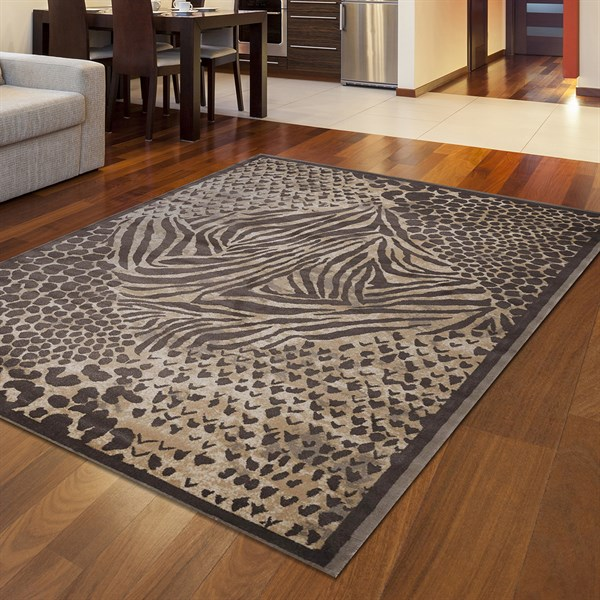 Rugs Direct Giorno Animal Print Area