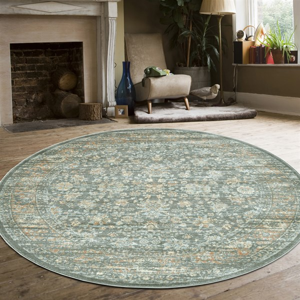 Green Vintage / Overdyed Area Rug