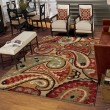 Product Image of Tan, White, Black (1617) Paisley Area Rug