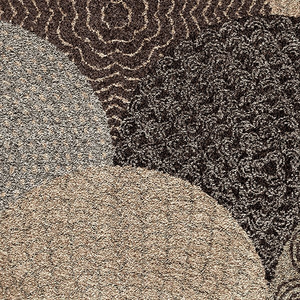 Black, Gray, Gold, Cream (1650) Transitional Area Rug
