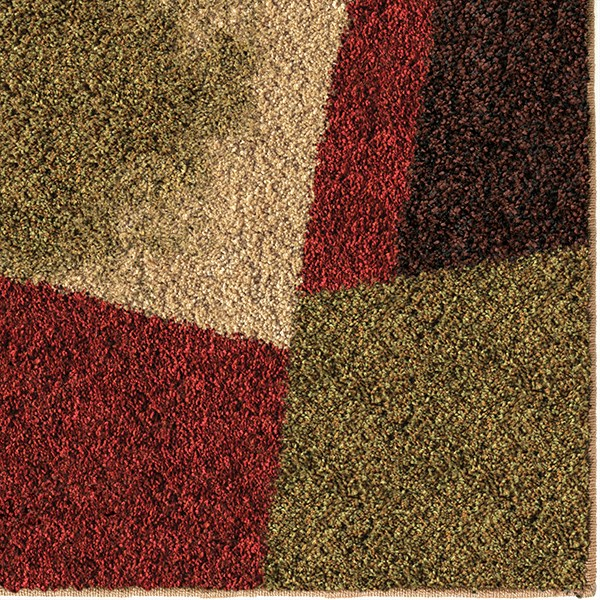 Beige, Green, Blue, Gold (1681) Contemporary / Modern Area Rug