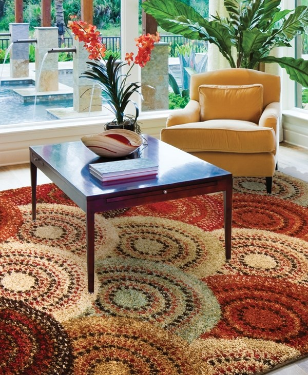 Gold, Cream, Beige (1615) Transitional Area Rug