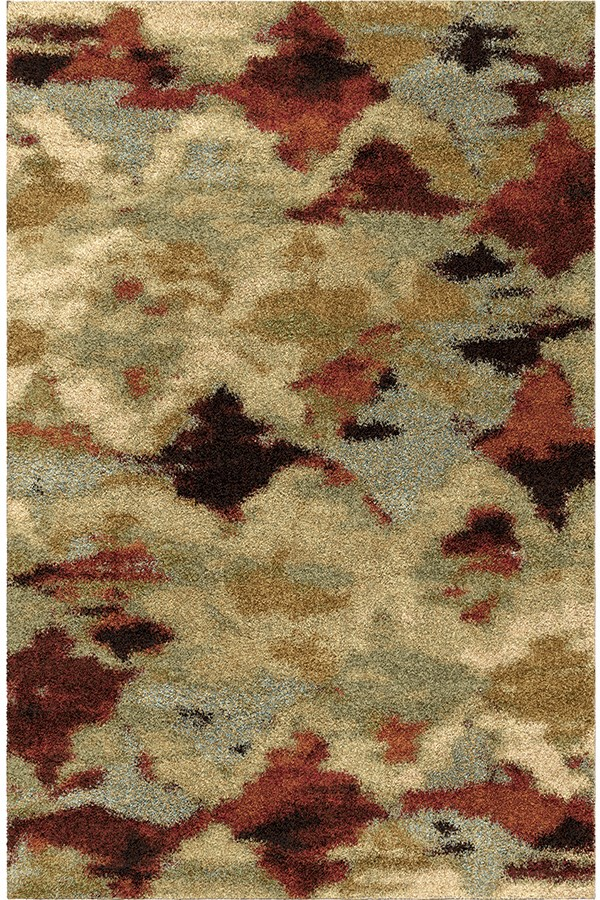 Beige, Ivory, Blue, Green (1683) Contemporary / Modern Area Rug