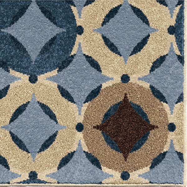 Blue, Beige, Tan (1832) Outdoor / Indoor Area Rug
