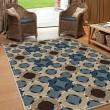 Product Image of Blue, Beige, Tan (1832) Outdoor / Indoor Area Rug