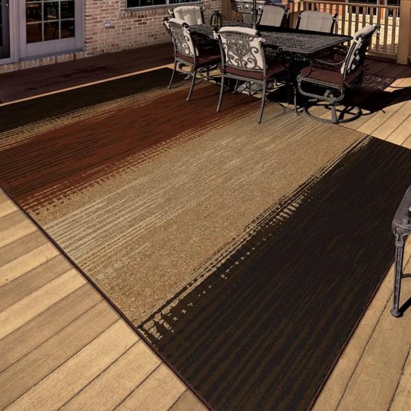 Brown, Beige, Rust (1837) Outdoor / Indoor Area Rug