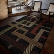 Product Image of Black, Tan, Ivory (1838) Outdoor / Indoor Area Rug
