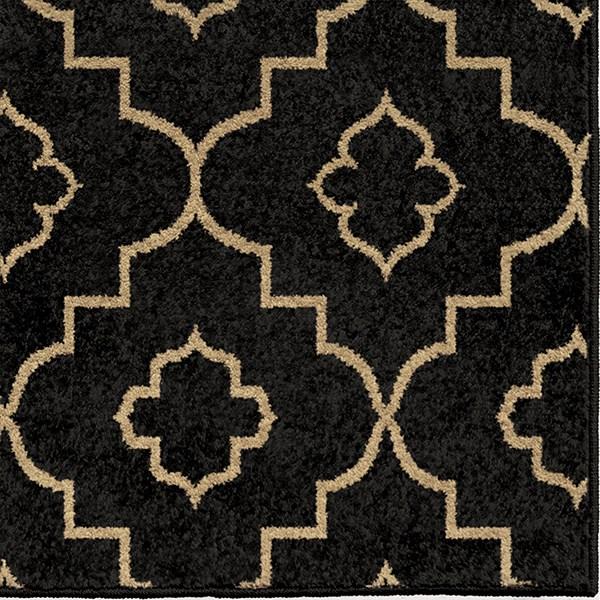 Black, Beige (1849) Outdoor / Indoor Area Rug