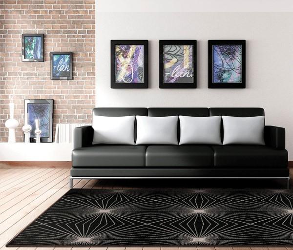 Black (2002) Contemporary / Modern Area Rug