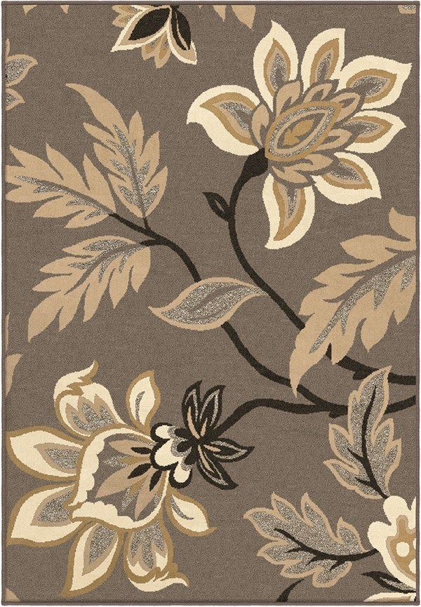 Taupe (2009) Floral / Botanical Area Rug