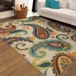 Product Image of Ivory, Green, Dark Blue (2353) Outdoor / Indoor Area Rug