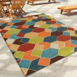 Product Image of Lime Green, Dark Blue (2363) Outdoor / Indoor Area Rug