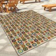 Product Image of Lime Green, Dark Blue, Light Blue (2364)  Outdoor / Indoor Area Rug