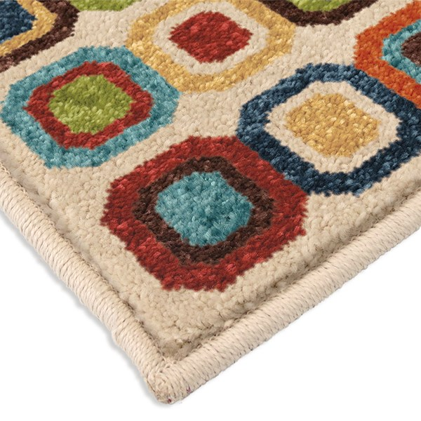 Lime Green, Dark Blue, Light Blue (2364)  Outdoor / Indoor Area Rug