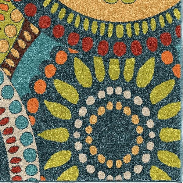 Green, Yellow, Ivory, Brown (2320) Outdoor / Indoor Area Rug