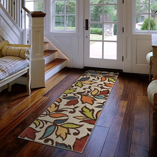 Red, Green, Orange, Gold (2342) Outdoor / Indoor Area Rug