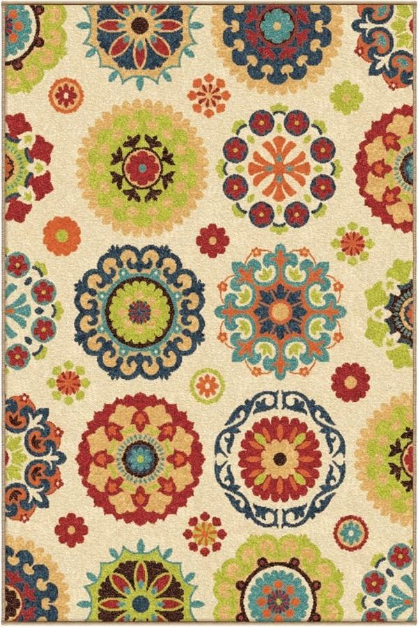 White (2302) Moroccan Area Rug