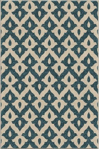 Blue (2365) Outdoor / Indoor Area Rug