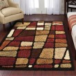 Product Image of Black, Red, Brown, Beige (1734) Contemporary / Modern Area Rug