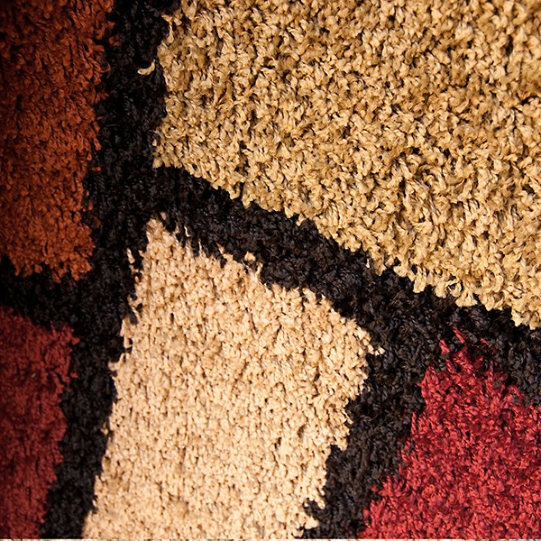 Black, Red, Brown, Beige (1734) Contemporary / Modern Area Rug