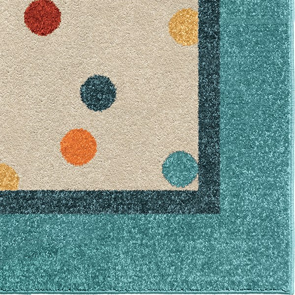 Teal, Blue, Ivory, Green (3114) Children's / Kids Area Rug