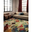 Product Image of Blue, Orange, Red, Green (2800) Contemporary / Modern Area Rug
