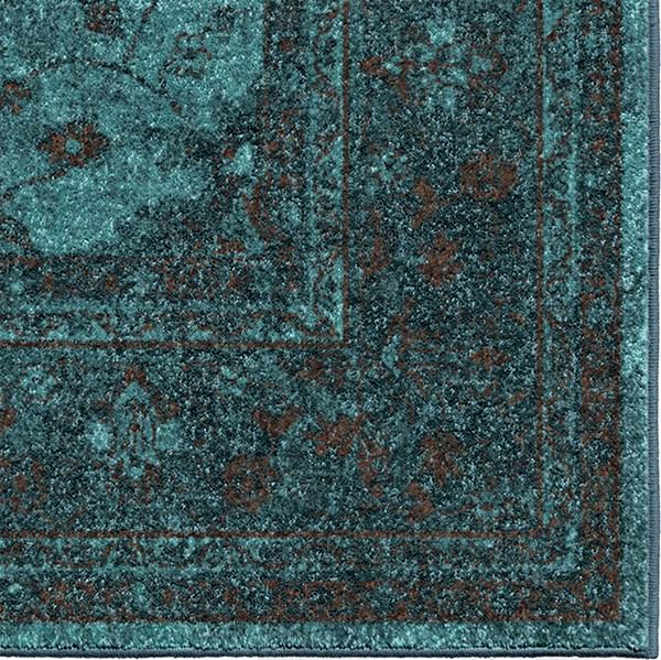 Blue, Brown, Light Blue, Navy (3006) Bohemian Area Rug