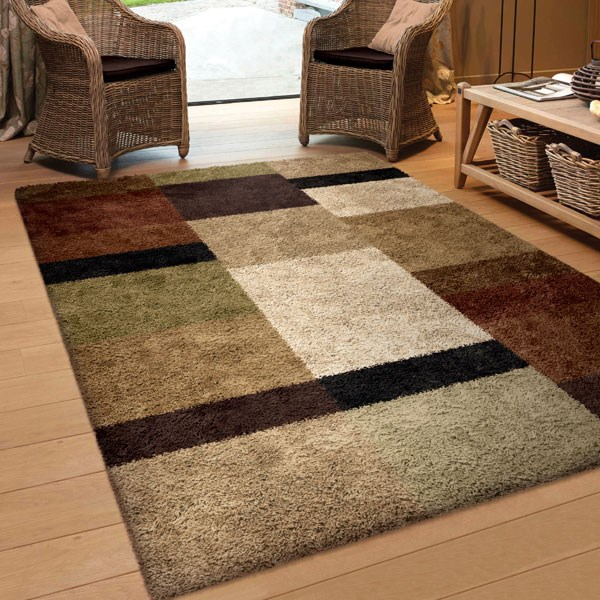 Copper (3703) Shag Area Rug