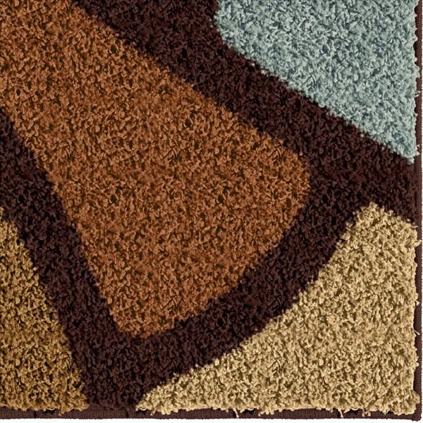 Brown (3708) Shag Area Rug