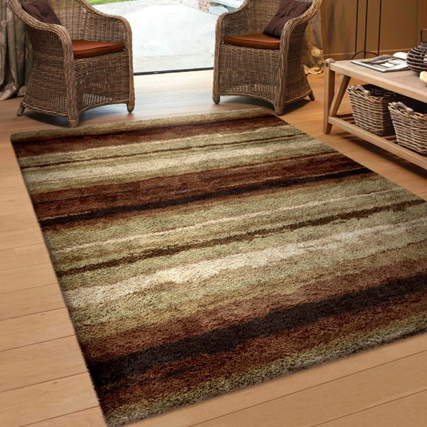 Red (3709) Shag Area Rug