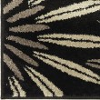 Product Image of Black, Grey, Silver, Taupe (4305) Floral / Botanical Area Rug