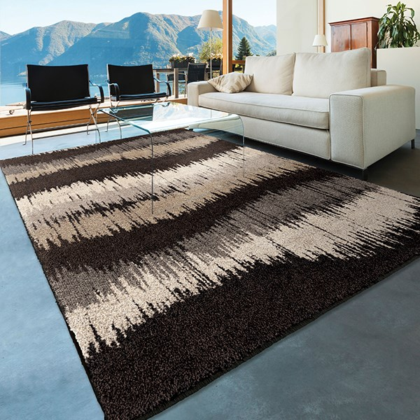 Grey, Charcoal, Beige (4309) Contemporary / Modern Area Rug