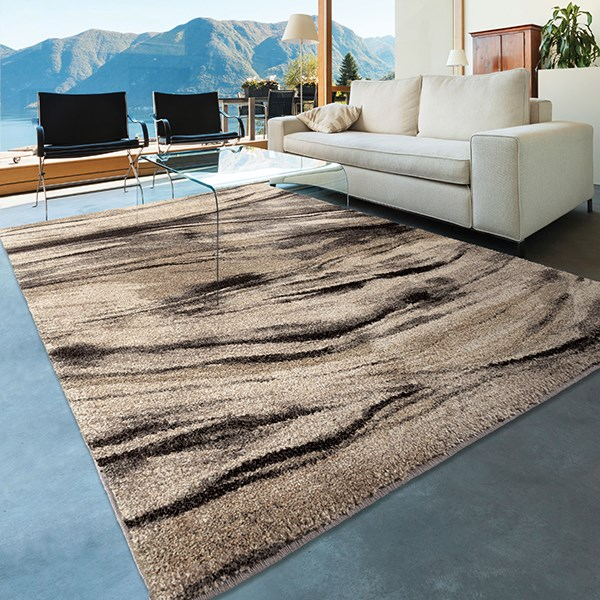 Black, Grey, Ivory, Beige (4316) Contemporary / Modern Area Rug