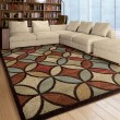 Product Image of Brown, Red, Burnt Orange (4321) Contemporary / Modern Area Rug