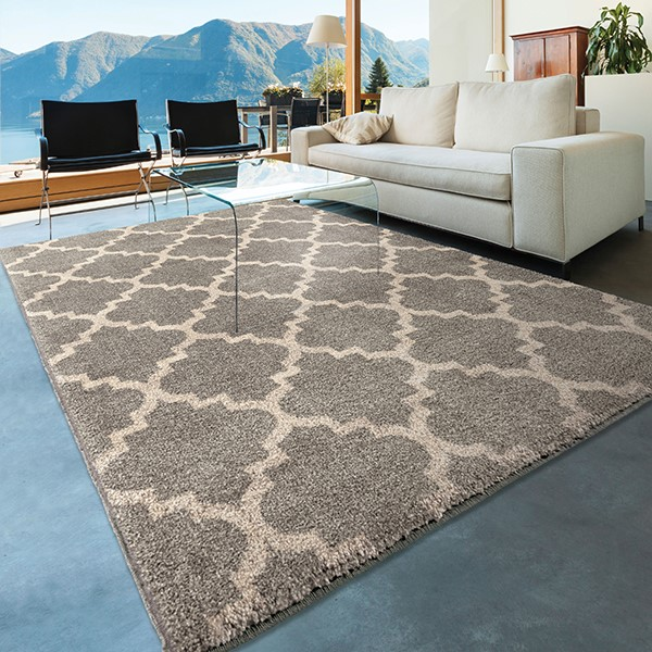Grey, Ivory (4322) Contemporary / Modern Area Rug