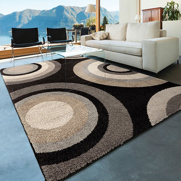 Black, Ivory, Grey, Beige (4325) Contemporary / Modern Area Rug