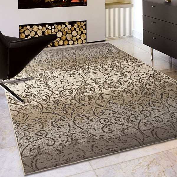 Grey, Ivory, Taupe (4210) Transitional Area Rug