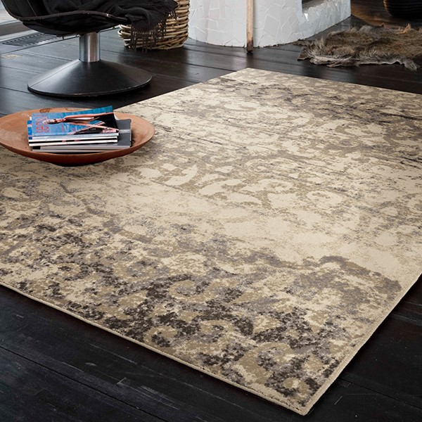 Ivory, Grey, Taupe (4211) Transitional Area Rug
