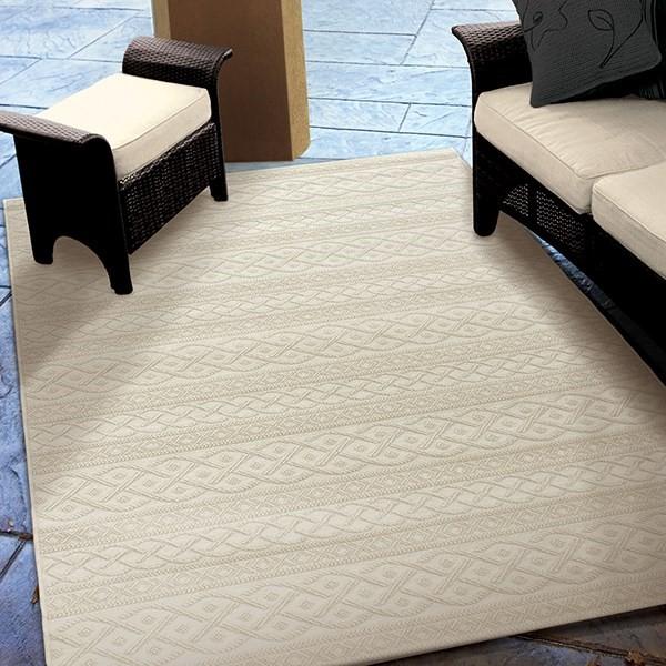 Ivory (3900) Outdoor / Indoor Area Rug