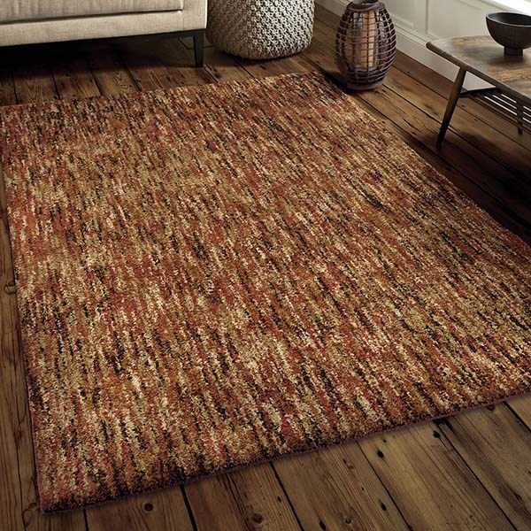 Red (4423) Shag Area Rug