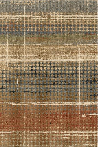 Beige, Rust (4400) Rustic / Farmhouse Area Rug