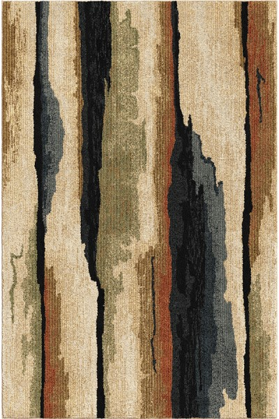 Beige, Moss (4413) Abstract Area Rug
