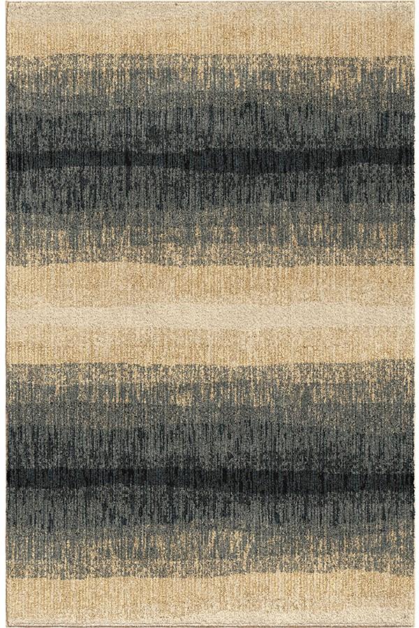 Dark Blue (4411) Striped Area Rug