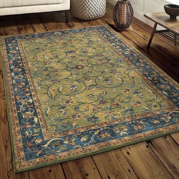 Green (4520) Traditional / Oriental Area Rug