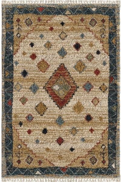 Khaki (5005) Moroccan Area Rug