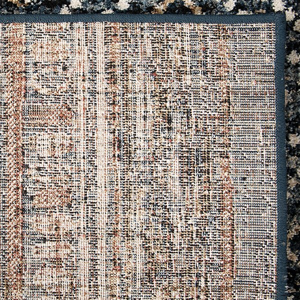 Blue, Rust, Ivory (8227) Moroccan Area Rug