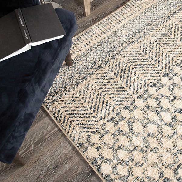 Blue, Gold, Indigo (8225) Southwestern / Lodge Area Rug