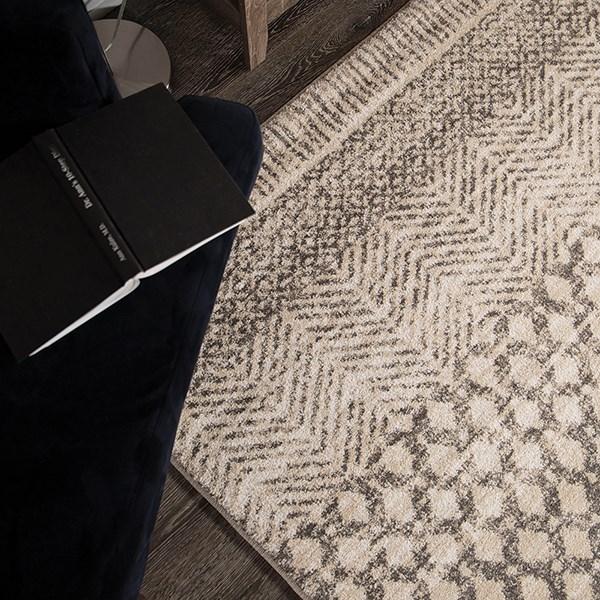 Grey, White, Ivory (8226) Southwestern / Lodge Area Rug