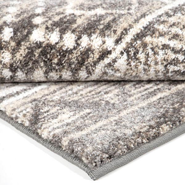 Grey, Ivory, White (8228) Moroccan Area Rug