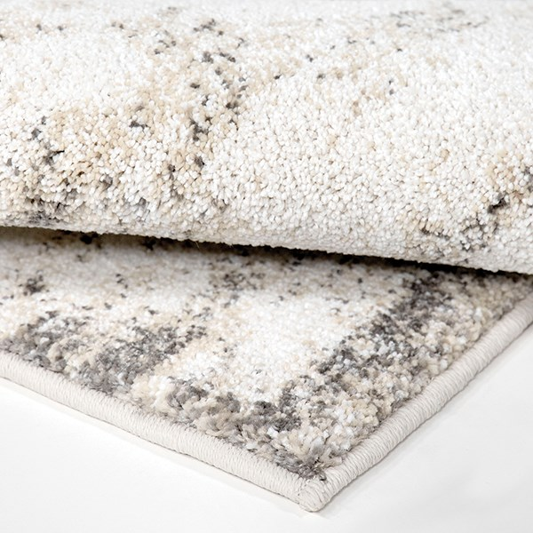 Grey, White, Silver, beige (8230) Abstract Area Rug